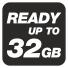 Поддержка карт памяти до 32 ГБ
