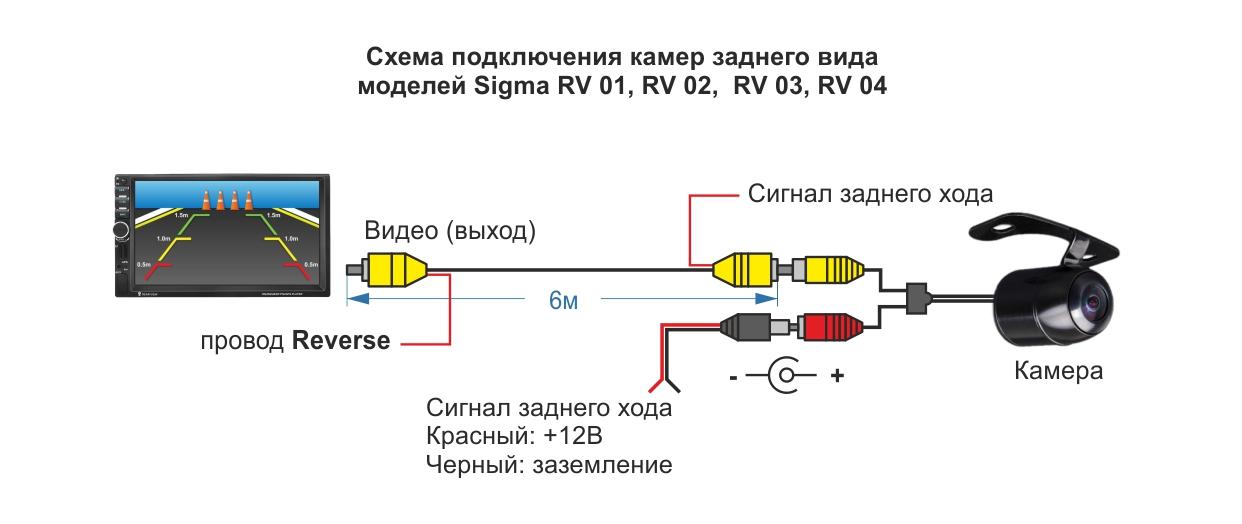 Магнитола 7018b схема подключения камеры заднего вида